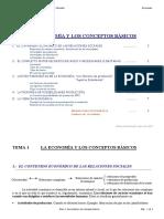 Tema 1 La Economia Y Los Conceptos Basicos