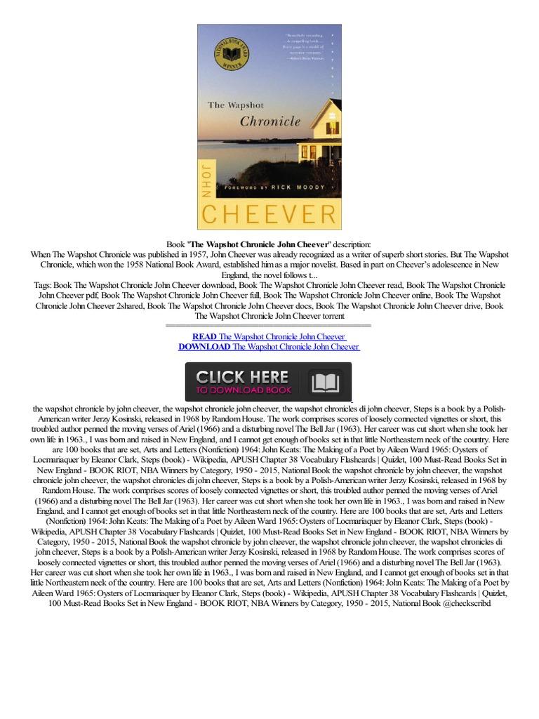 Ibook the wapshot chronicle john cheever beoordelingen aussicht en pc lettore frei e books electronic publishing
