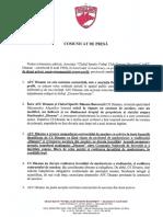 Comunicat de Presa Dinamo