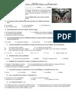 Control de Lectura de Drácula de Bram Stocker