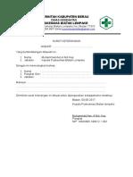Format Surat Keterangan