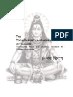 The Yoga Vasishtha Maharamayana of Valmiki