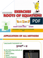 Exercises Roots Equations