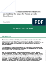 Evaluating NYC Media Sector Development and Setting the Stage for Future Growth