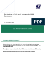 Projection of US Mail Volume to 2020
