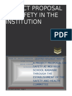 Project Proposal for Occupational Health and Safety Committee