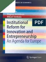 Institutional Reform for Innovation and Entrepreneurship An