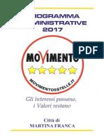 3.Programma Amministrativo Del Candidato Sindaco Franca Pulpito