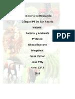 Impacto Del Sector Agropecuario en Los Recursos Renovables y No Renovables
