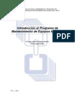 Introducción Al Programa de Mantenimiento de Equipos Medicos