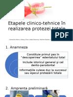 Etapele Clinico-tehnice În Realizarea Protezei Totale