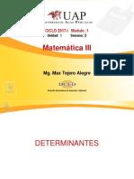 Mat III Sem 2 Determinantes