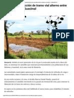 24-05-2017 Avanza construcción de tramo vial alter...re Las Palomas y Guasimal - LARAZON.CO
