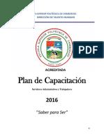 Plan Capacitacion 2016