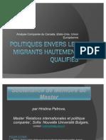 Politiques envers les Migrants Hautement Qualifiés