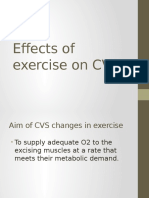 Effects of Exercise on CVS