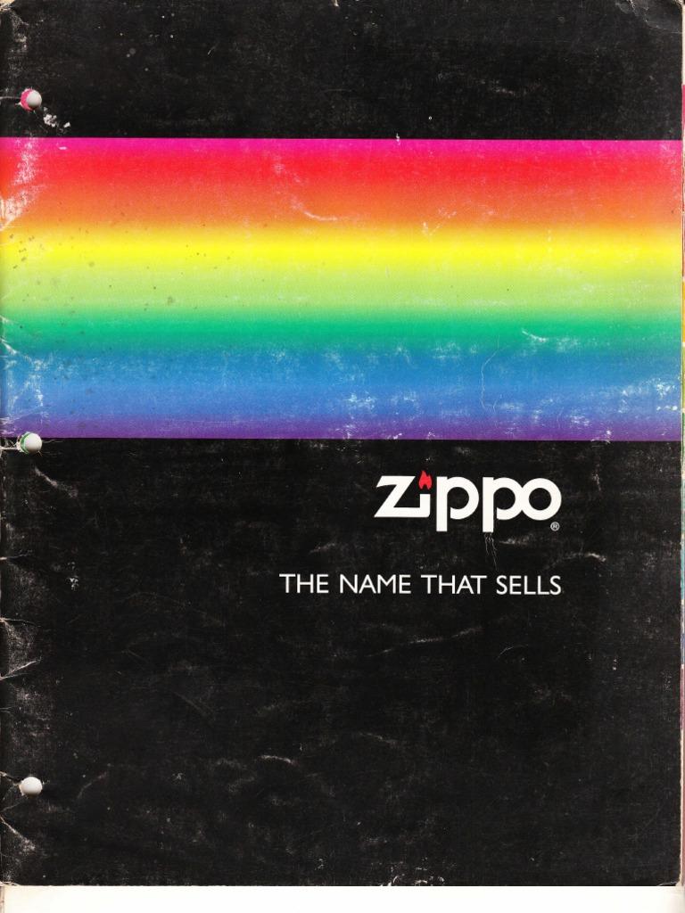 1991 Zippo Full Line Catalog Black Matte 218