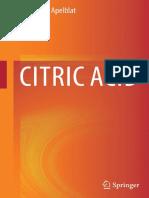 Citric Acid - Alexander Apelblat (Springer, 2014)