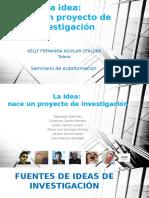 Cipa 1. La Idea de Investigación