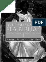 ALVAREZ VALDES, A. - Que Sabemos de La Biblia I - Fray Juan de Zumarraga, 1997