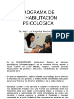 Programa de Rehabilitación Ps. Educativa