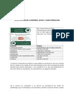 Investigación de La Empresa Datos y Caracterización