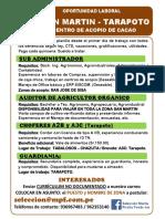 Oportunidad Laboral - Machu Picchu Foods SAC