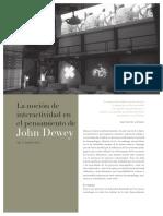 La noción de interactividad en el pensamiento de John Dewey