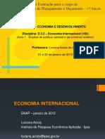 Aula 1 - Luciana Acioly Da Silva (D2.2 – Economia Internacional)