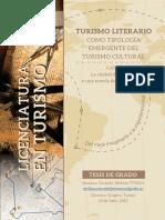 Turismo Literario como tipología emergente del Turismo Cultural. Corrado, Melina