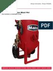 Blastmaster m 6 5 Cu Ft Abrasive Blasting Pot Part Numbers Schematics Guide 106m058