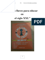Lectura, Comentario y Expresión de Conclusiones Del Libro Cinco Llaves Para Educar en El Siglo XXI. Aprendizaje, Corazón, Talento, Diálogo y Solidaridad. (1)