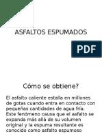 ASFALTOS ESPUMADOS