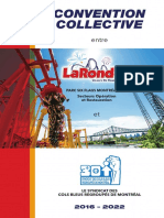 Convention collective La Ronde, opérations et restaurants, SCFP 301 (2016–2022)