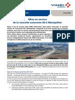 Mise en service de la nouvelle autoroute A9 à Montpellier