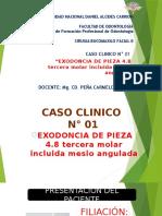 caso clinico n° 3 tercera molar