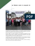 20.05.17 Va Juan Martínez contra la corrupción de funcionarios