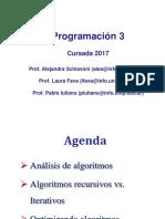 Prog 3-Clase 10 - Análisis de Algoritmos-2017.pdf