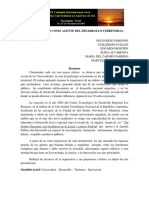 La Universidad Como Agente Del Desarrollo Territorial
