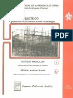 Vol. 10 Operación de Subestaciones de Energía Bloque Modular 1 Módulo 10