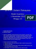 SI-4101 Sistem Rekayasa Sipil (Inventory Model) - minggu ke-10.ppt