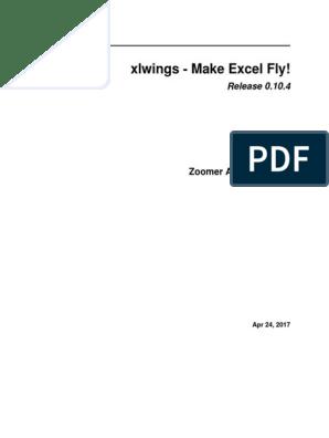 Xl Wings   Microsoft Excel   Python (Programming Language)