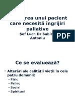 Evaluarea Unui Pacient Care Necesita IP