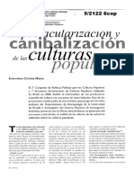 52122 CARVALHO Espectacularizacion y Canibalizacion de Las Culturas Populares