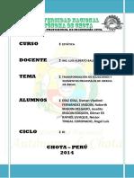 TRANSFORMACIÓN DE ECUACIONES Y MOMENTOS PRINCIPALES DE INERCIA DE ÁREAS
