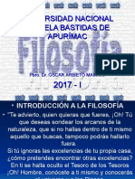 Introduccion a La Filosofia y Metafísica.unamba. Abril 2017 i. Ultimo