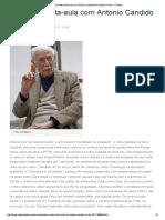 Uma Entrevista-Aula Com Antonio Candido Na Flip 2011 _ Prosa - O Globo