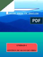 Unidad 3 Mano de Obra 2015