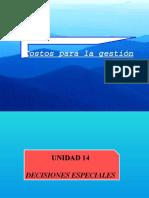 Unidad 8 Decisiones Especiales 2015