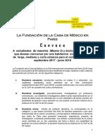 Estancias de investigación en la Casa México de Paris